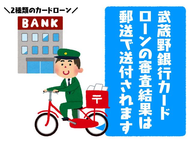 武蔵野銀行カードローンの審査結果は郵送で送付されます