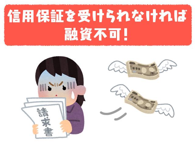 信用保証を受けられなければ融資不可