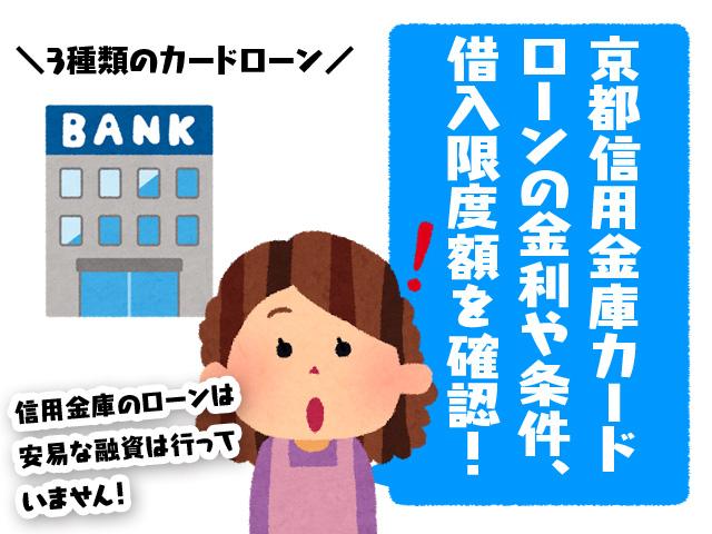 京都信用金庫カードローンの金利や条件、借入限度額を確認!